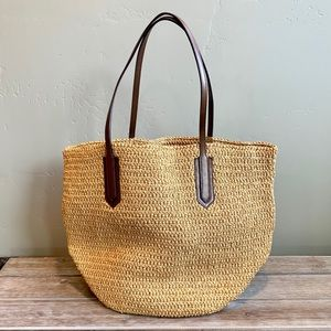 J Crew Straw Tote EXCELLENT Condition